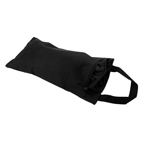Baoblaze Yoga Sandsack Sandbag mit Innenbeutel aus Oxford Tuch Yogazubehör - Schwarz