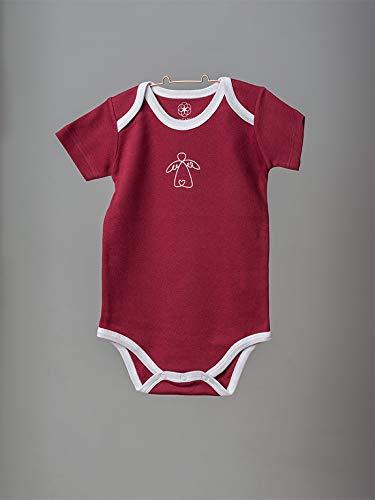 Organic by Feldman Unisex Baby Body Kurzarm aus Bio Baumwolle, GOTS Zertifiziert, Schutzengel Rot, (86/92) - 4