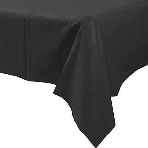 off Einweg Party Tischdecke (schwarz) (Schwarzes Kunststoff-tischdecke)