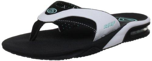 Reef Fanning 1, Chaussures de sport femmes Noir - nero (Schwarz (Black/White/Aqua))