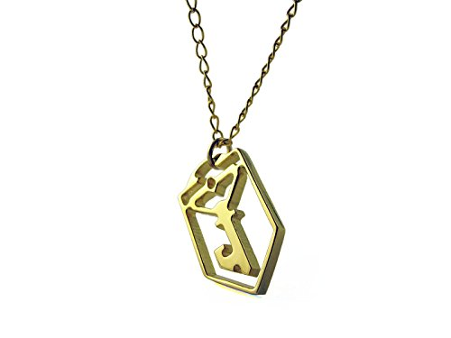 ingress-resistance-key-necklace-gold-plated-handmade-length-45-5cm