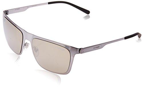 Arnette Herren 0AN3076 502/5A 56 Sonnenbrille, Grau (Brushed Gunmetal/Lightbrownmirrordarkgold),