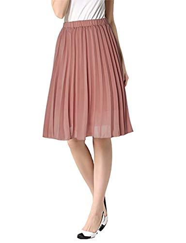 uideazone Women Girls A Line Skirts Dress High Waisted Full Circle Skirt Yellow