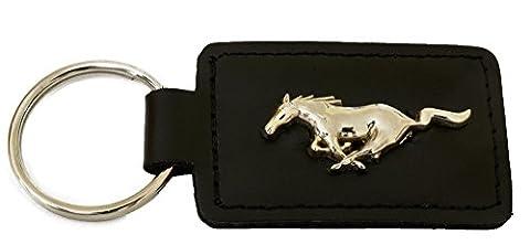 Mustang Porte-clés en cuir Logo Ford Mustang avec étui