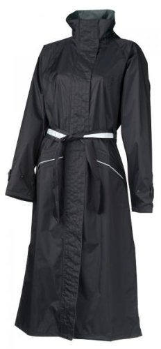 AGU Damen Regenjacke Mantel Malaga schwarz Jacke wasserdicht 4 Größen, 950246, Größe Small