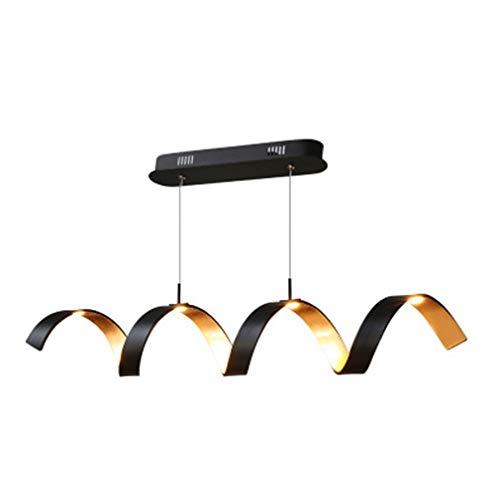 LED Pendelleuchte Esstisch Licht Modern Schwarz-Gold Metall Hängeleuchte Deckenlampe Persönlichkeit Spirale Restaurant lampe Für Esszimmer Wohnzimmer Schlafzimmer Küche Bar Einkaufszentrum Café Büro