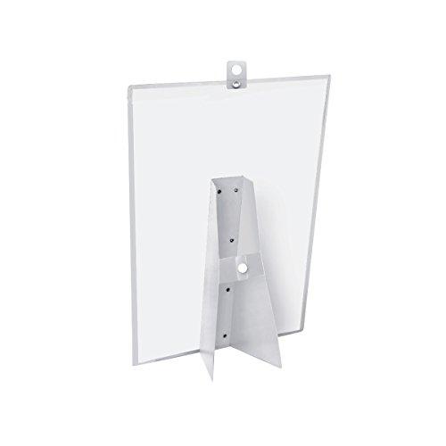 Veloflex 3403000 Plakatständer A3, Tischaufsteller, Plakathalter, Prospekthalter, Kundenstopper, transparent