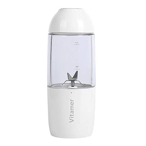 Hetick Vitamin Fruit Juicer, Licuadora EléCtrica para Frutas Verduras para Bebés | USB PortáTil Recargable...