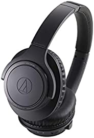 Audio Technica ATH-SR30BTBK Sound Reality Bluetooth Wireless Over-Ear Headphones with Microphone (Black)