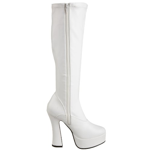 Pleaser Damen Electra-2000z Kurzschaft Stiefel Weiß (Weiss (Wht Str Faux Leather))