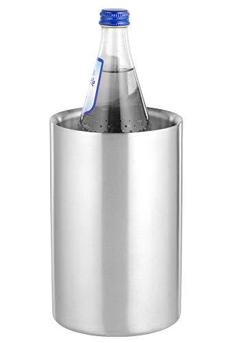 Flaschenkühler MIAMI aus Edelstahl, gebürstet, doppelwandig, Maße: Höhe ca. 19,5 cm, Durchmesser...