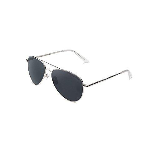 CLANDESTINE Silver Blue Grey - Gafas de Sol de Nylon HD Hombre & Mujer