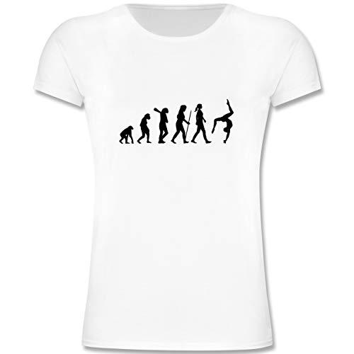 Evolution Kind - Evolution Turnen - 164 (14-15 Jahre) - Weiß - F131K - Mädchen Kinder T-Shirt