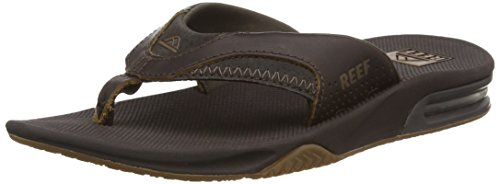 Reef Leather Fanning, Flip-flop homme Marron
