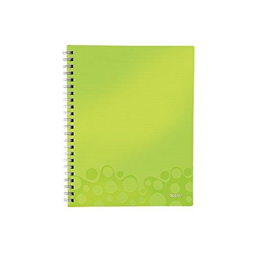 Leitz 46420064 Kollegblock WOW Get Organised, A4, PP, liniert, grün metallic