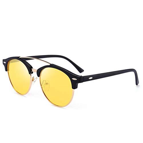 CASEY-L Polarisierte Sonnenbrillen, Herren Europa und Amerika Brillen Flut Retro Round Frame Driving Lightweight 2019 H