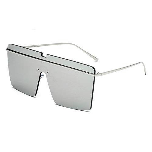 GBST Oversize Women Square Sunglasses Fashion Men Transparent Frame Gradient/Clear Lens Glasses with Box,A1