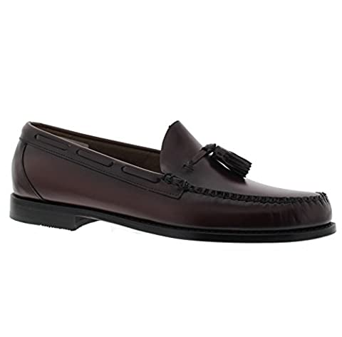Bass Larkin Mens Leather Loafers Wine - 42 EU