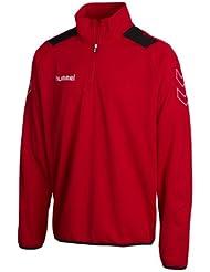 Hummel Sweatshirt Roots Half Zip - Sudadera de fútbol para hombre, color rojo, talla 2XL