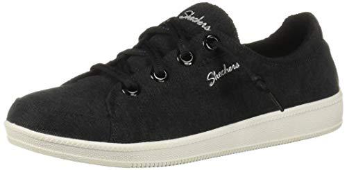Skechers Damen Madison Ave-Inner City Sneaker, Schwarz (Black White BKW), 38 EU