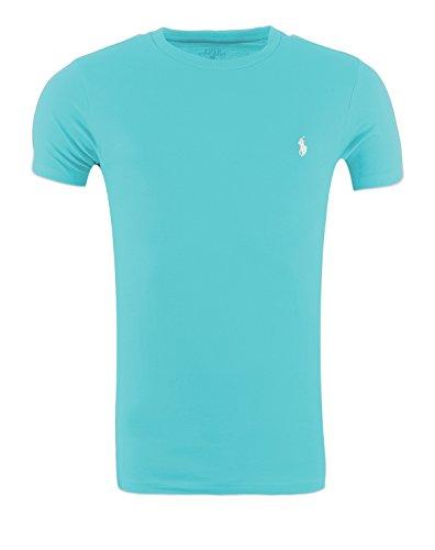 RALPH LAUREN Shirt Custom Fit T-Shirt S-M-L-XL Outletware Türkis