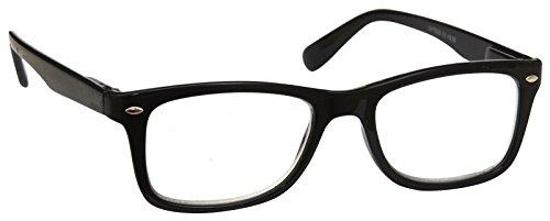 UV Reader Lesebrille Herren Damen Wayfarer Style schwarz + 3,50