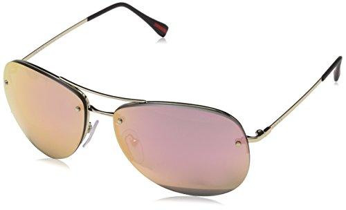 Prada Sport Unisex-Erwachsene 0PS50RS ZVN5L2 62 Sonnenbrille, Pale Grey Rose Gold