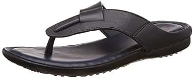 BATA Men's Supremo Blue Leather Hawaii Thong Sandals - 8 UK/India (42 EU)(8749004)