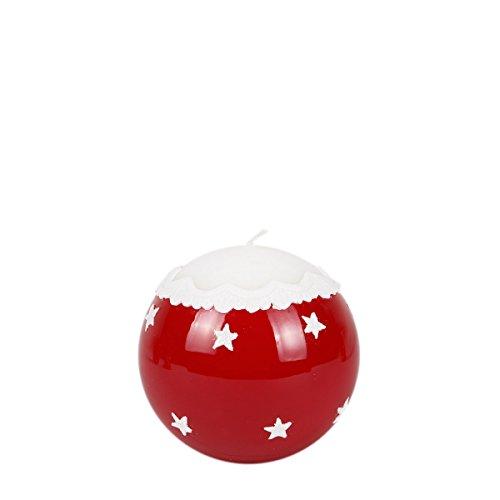 Bola Vela Vela de Navidad Diámetro 100Mm Decoración De Navidad Color Rojo lacado