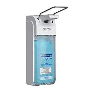 Allpax professioneller medizinischer Desinfektionsspender Universal 500 ml und 1000 ml Handdesinfektionsspender Eurospender - Flexible Dosiermengen - Bequeme Installation