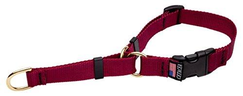 Wale Soft Martingale Hundehalsband, Medium, Burgund (Soft-martingal-kragen)