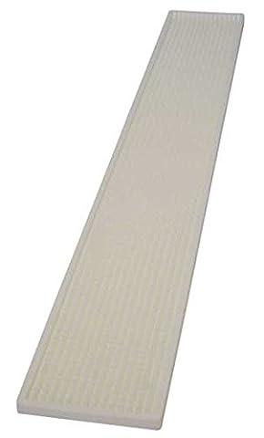 Bar Rail Mat extra long by Chabrias Ltd, 700 x 100 mm, White