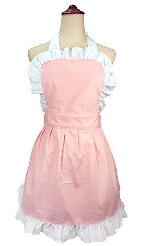 lilments Damen Rüschen Outline Retro Taschen Schürze Küche Kochen Reinigung Dienstmädchen Kostüm ()