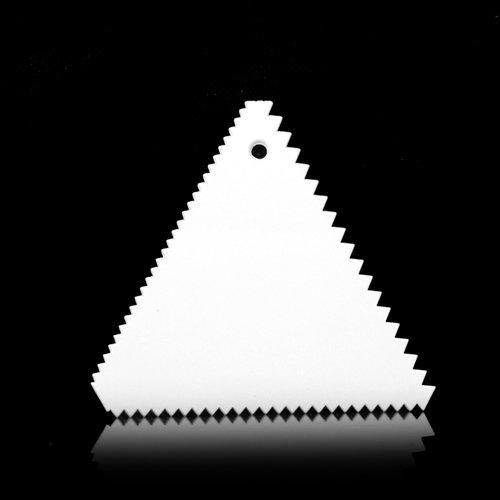Weihnachten Küche Gebäck Tools Dreieck Sägezahn Form Kunststoff glattere NEU Schaber Klassische Fondant Werkzeug Backen Dekorieren Tools ^. Brownies Muffin Pan