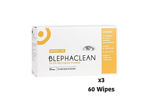 60 BLEPHACLEAN Sterile Eyelid Wipes For BLEPHARITIS Test