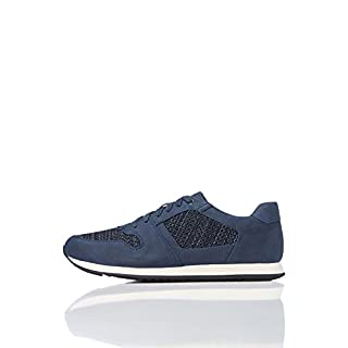 FIND Men's Sneakers Contrast Mesh Lace up Blue (Navy) 10 UK (44 EU)