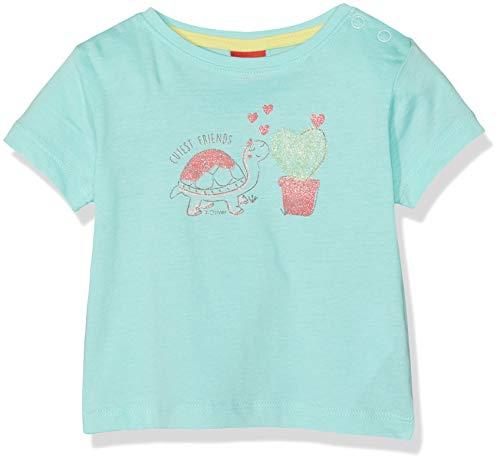 s.Oliver Baby-Mädchen 65.904.32.5646 T-Shirt, Türkis (Mint 6117), Herstellergröße: 86 -