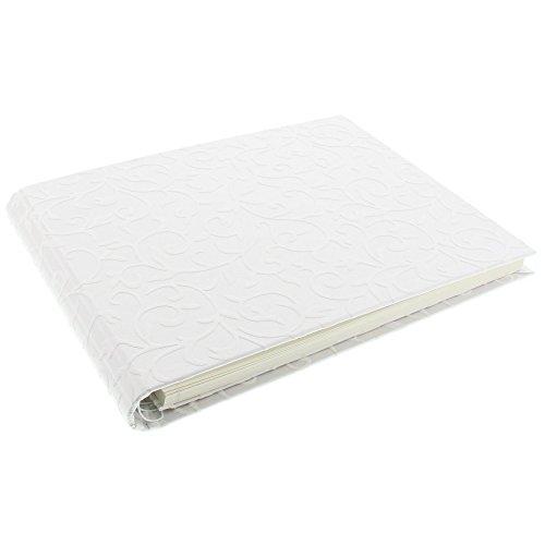 Goldbuch Foto-Gästebuch mit verdeckter Spirale, Romantico, 29 x 23 cm, 50 weiße Blankoseiten, Geschenkverpackung, Kunstdruckpapier mit Relief, Perlmutt, 47623