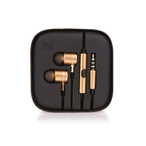 tomaxx Kopfhörer Headset in Ear Kompatibel mit Apple iPhone 6 6S Plus 7 7 Plus, Samsung S10 S10e Plus, Motorola G7 Play Power Plus One, Nokia, Honor, Huawei P30, Lite, Pro, LG, OnePlua 6, 7 in Gold Gold Motorola Headset