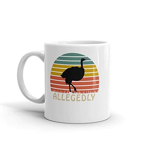 Allegedly Ostrich Mug- Gift, Cute Gift, Souvenir, 11oz, -