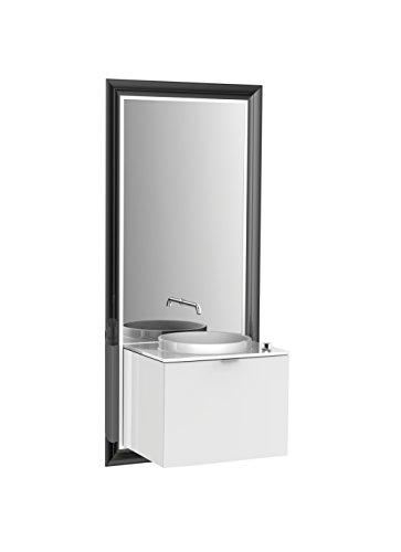 emco touch classic Waschplatz, 60 cm Rahmen Schwarz, Front Optiwhite