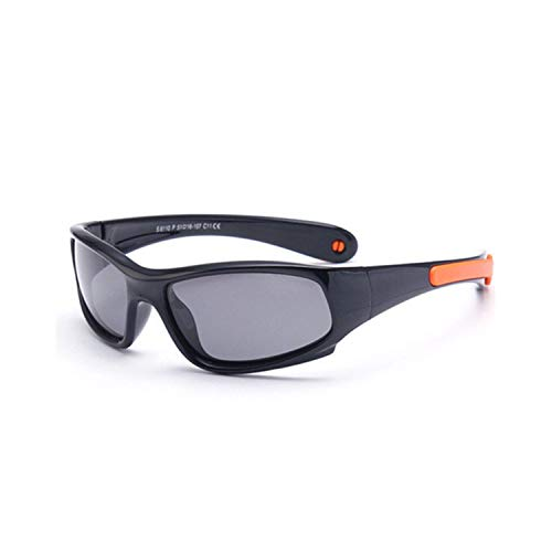 Sportbrillen, Angeln Golfbrille,Unbreakable Kids Polarisiert Sunglasses Boy Girls Fashion Sun Glasses Children Safety Silicone Eyewear Candy Color Frame as picture C6