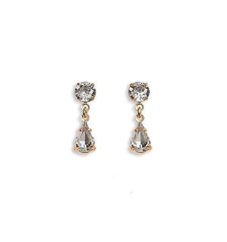 Diamante Teardrop Earrings - Swarovski Earrings - Diamante Earrings - Crystal Earrings - Gold Plated/Pierced