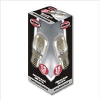 1 bombilla para frigorífico Eveready Pygmy 15 W (SES), Clear White, E14, E14 15 watts 240 volts