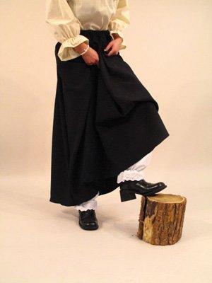 oween-Kostüm - Langer Hexenrock - Schwarz (Tina Halloween Kostüm)