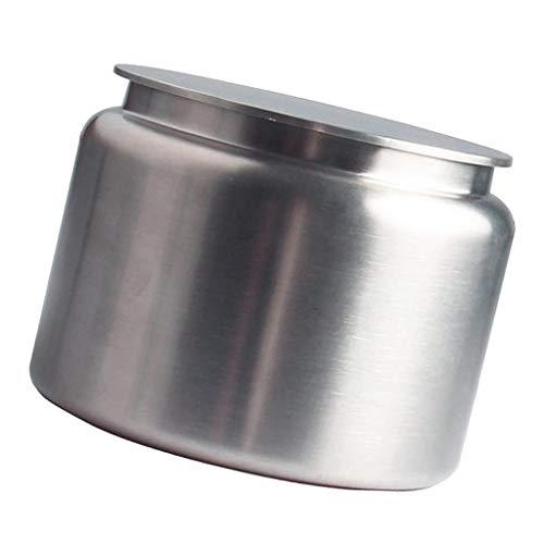 Baoblaze Edelstahl tragbar Teedose, Reise Mini Kaffeekanne Tee Zucker Speicher, 12x9.1cm