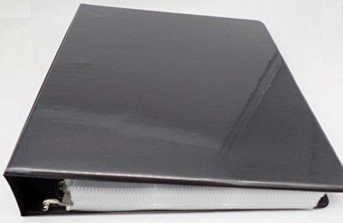 docsmagic.de 3-Ring Album Black + 100 9-Pocket Premium Pages - Sammelalbum + Ordnerseiten - Schwarz - Pokemon - Yu-Gi-Oh! - Magic - 9 X 9 Binder
