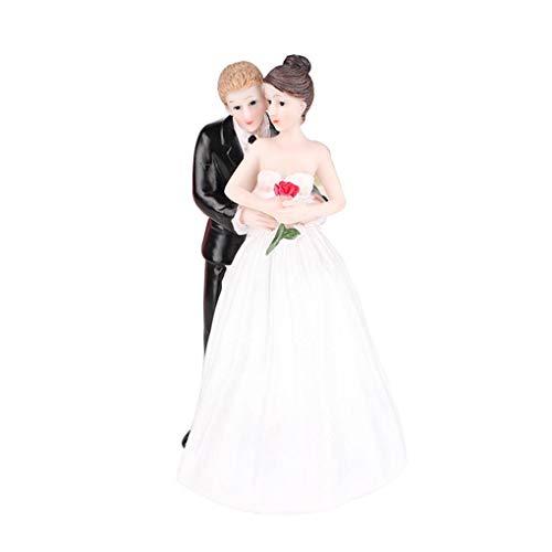 Masterein Hochzeitstorte Topper Lustig Romantik Bräutigam Braut Rose Blumen Figurine Hochzeit Kuchen ()