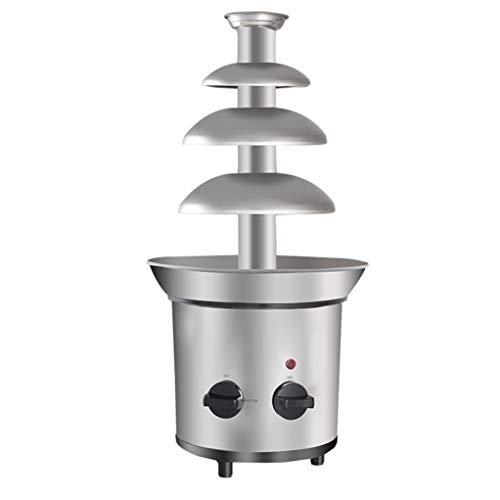 Vier-Schicht-Frucht-Schokoladen-Brunnen, automatischer kleiner Haushalt und kommerzieller heißer Topf-Restaurant-Schokoladen-Partei-Wasserfall-Maschine -