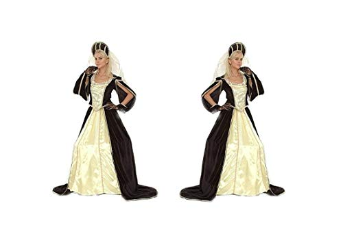 LBA Mittelalter Prinzessin Kostüm Erwachsene. Einheitsgröße (M/L)